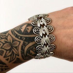 Vintage Silver Coro Linked Bracelet